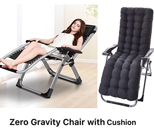 Four Seasons Zero Gravity Chair With Cushion Lounge Recliner Folding Adjustable Office Patio Beach Pool Side Sports Indoor Outdoor Portable Durable With Beverage Tray Cup And Phone Holder Rocker Recliner Shop